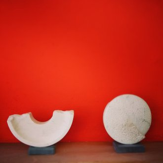 BROKEN SEMI-CIRCLE, TWO WAYS OF RECORDING TIME (SOLD). MARBLE 2015