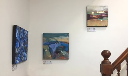 Paintings by Ruth Hawkins and Magdalena Morey on the first floor
