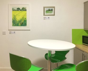 Limited edition prints by Gerry Wilmer in the dining room