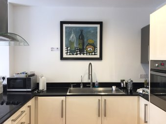 The Kitchen, with painting by Colin Wiles
